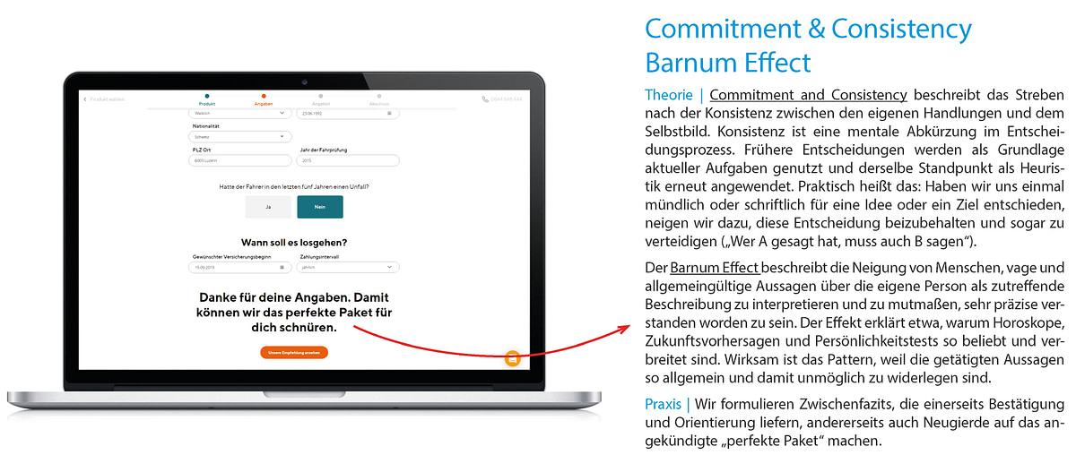 Commitment & Consistency / Barnum Effect
