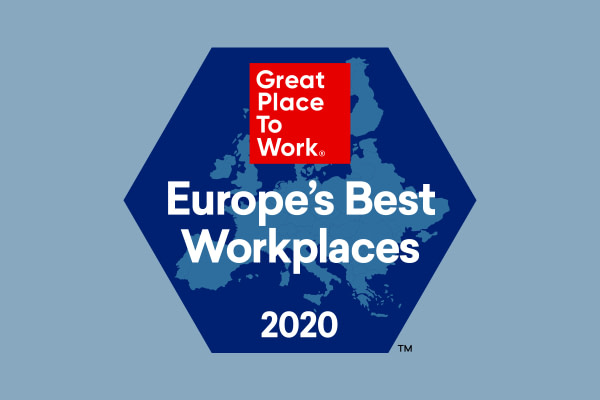 2020 Best Workplaces in Europe von Great Place to Work®